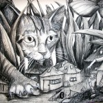 """Attack of the Kitten"" 24x36"